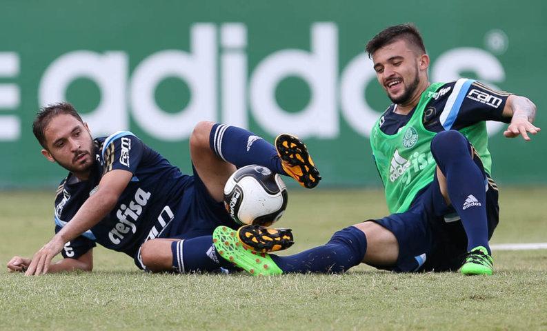 O meia Régis é um dos relacionados para a partida contra a Ferroviária. (Cesar Greco/Ag. Palmeiras/Divulgação)