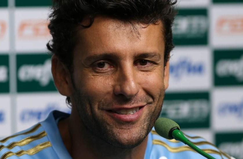 Alberto Valentim ficou satisfeito com atuação da equipe no clássico deste domingo (13). (Cesar Greco/Ag.Palmeiras/Divulgação)