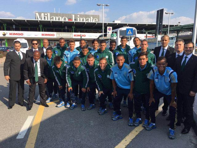 Sub-20 do Palmeiras jogou amistoso no Centro Sportivo Giacinto Facchetti, utilizado pela base da Inter de Milão. (Divulgação)