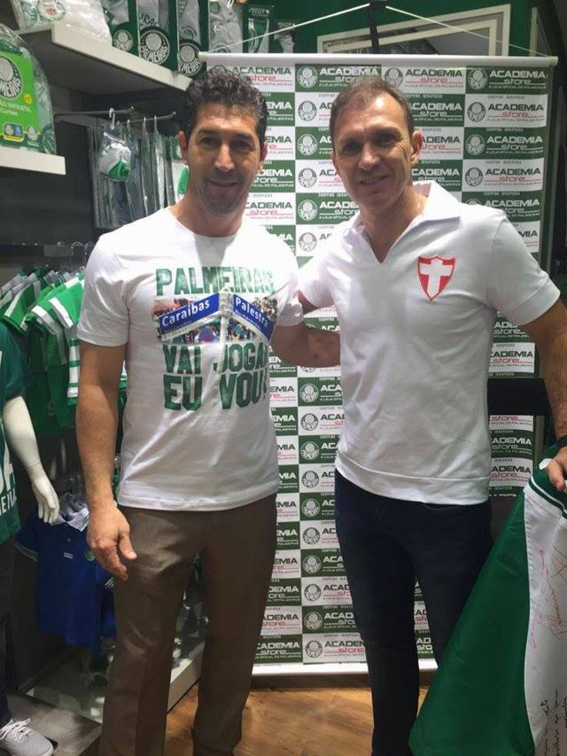 Sérgio e Velloso estiveram na Academia Store do Shopping SP Market. (Divulgação)