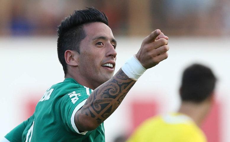 Barrios destacou o espírito de luta da equipe para a classificação. (Cesar Greco/Ag.Palmeiras/Divulgação)
