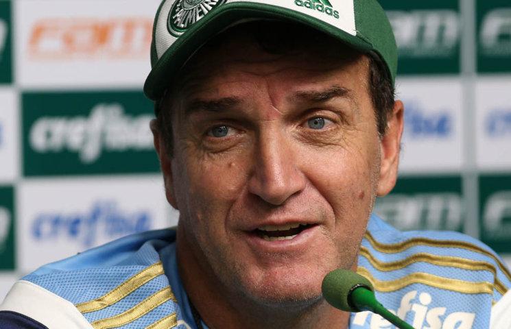 Cuca se mostrou confiante na busca pelo título nacional. (Cesar Greco/Ag.Palmeiras/Divulgação)