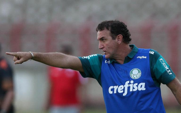 Cuca se mostrou satisfeito com o resultado e projetou duelo com River na próxima quinta (14). (Cesar Greco/Ag.Palmeiras/Divulgação)