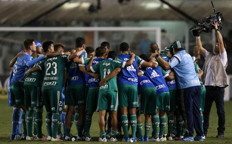 Palmeiras mostrou muita força e conseguiu empatar a partida, mas não obteve sucesso nos pênaltis. (Cesar Greco/Ag. Palmeiras/Divulgação)