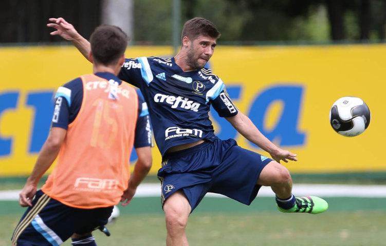 O meia Fellype Gabriel treinou normalmente com o grupo neste sábado (16). (Cesar Greco/Ag.Palmeiras/Divulgação)