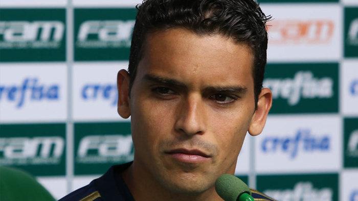 Jean concedeu entrevista coletiva na Academia de Futebol nesta terça (12). (Cesar Greco/Ag.Palmeiras/Divulgação)