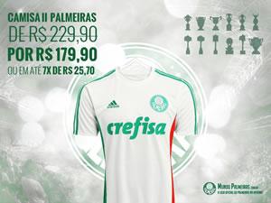 Compre com desconto a camisa do Palmeiras 2015/16