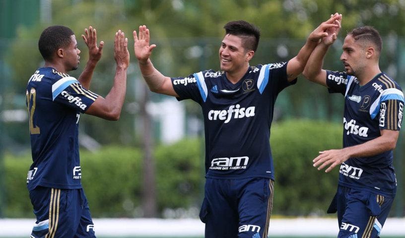 Verdão segue cronograma de treinamentos visando estreia no Brasileirão. (Cesar Greco/Ag.Palmeiras/Divulgação)