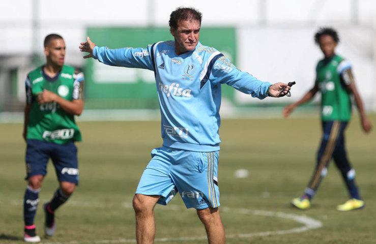 O elenco alviverde treinou na Academia de Futebol antes de partir para a Atibaia-SP. (Cesar Greco/Ag Palmeiras/Divulgação)