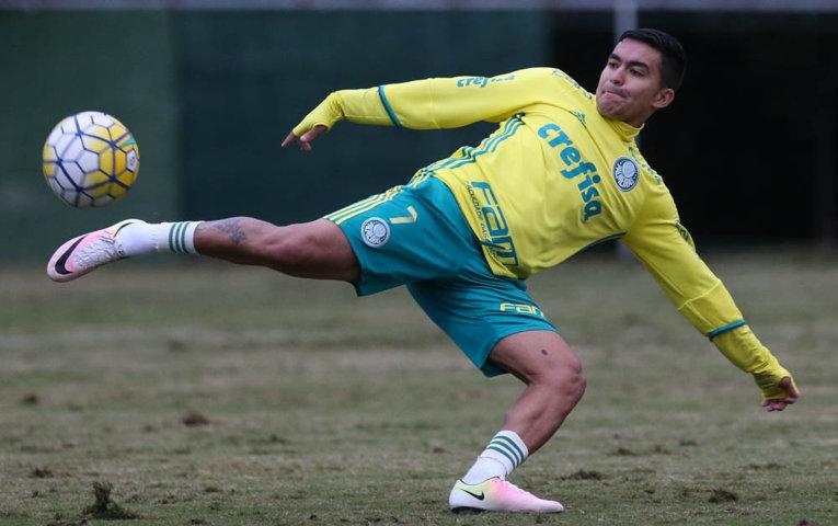 Após lesão, Dudu voltou a ser relacionado e pode jogar contra a Ponte Preta. (Cesar Greco/Ag Palmeiras/Divulgação)