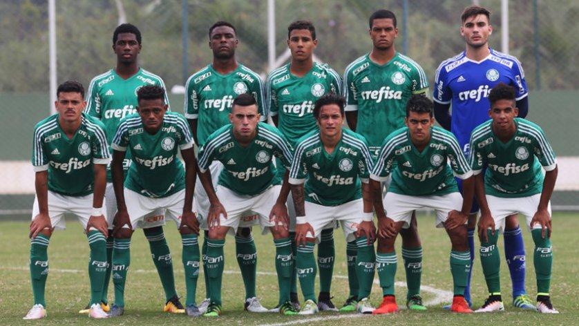 Depois de golear o Audax na primeira rodada, o Sub-20 do Palmeiras enfrenta o Santos neste sábado (14). (Fabio Menotti/Ag Palmeiras/Divulgação)