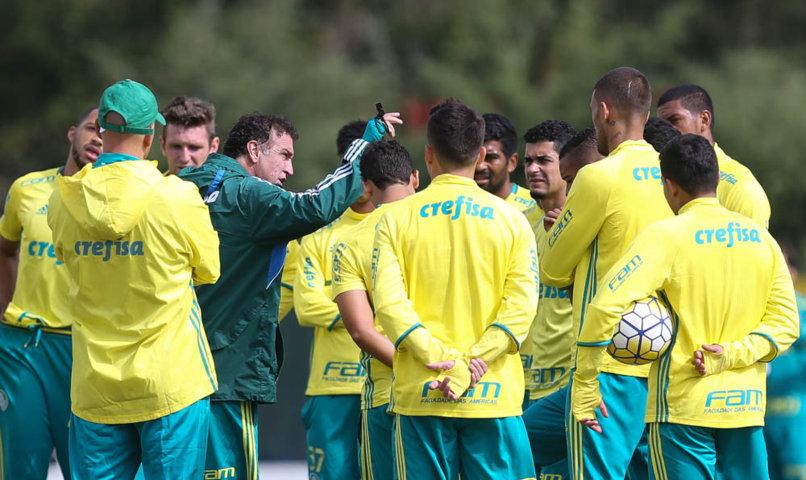 O elenco do Palmeiras se reapresentou na tarde desta segunda-feira (23), na Academia de Futebol. (Cesar Greco/Ag.Palmeiras/Divulgação)