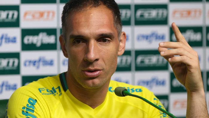 Contra o Corinthians, Prass chegou a 203 jogos no gol alviverde. (Cesar Greco/Ag Palmeiras/Divulgação)