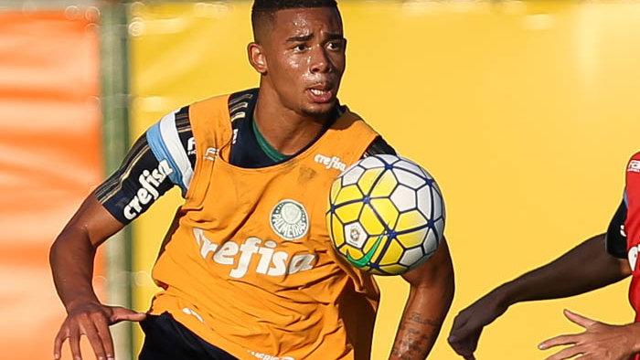 Gabriel Jesus deu três assistências na goleada do Verdão sobre o Guarani em jogo-treino disputado nesta quarta-feira (11). (Cesar Greco/Ag.Palmeiras/Divulgação)