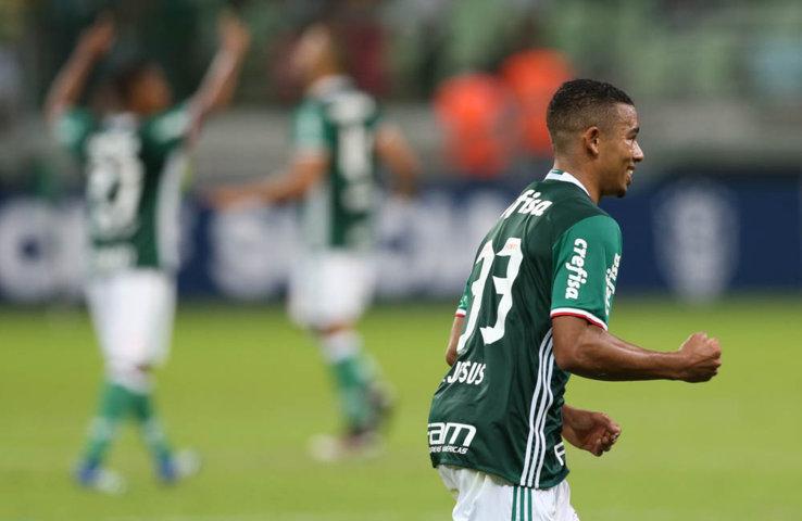 Gabriel Jesus foi um dos destaques do time, com dois gols no segundo tempo. (Cesar Greco/Ag.Palmeiras/Divulgação)
