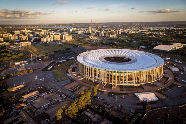 Com mando do Fluminense, Palmeiras jogará pela segunda vez no Mané Garrincha, em Brasília-DF. (Divulgação)