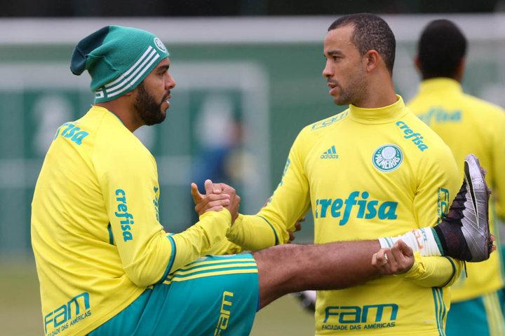 Manhã desta quarta-feira (08) foi de preparação física na Academia de Futebol. (Cesar Greco/Ag.Palmeiras/Divulgação)