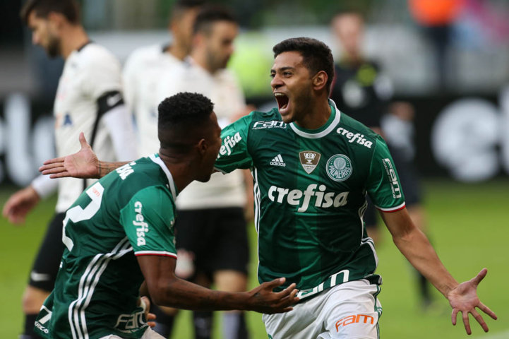 Cleiton Xavier marcou o gol alviverde na vitória sobre o Corinthians. (Cesar Greco/Ag.Palmeiras/Divulgação)