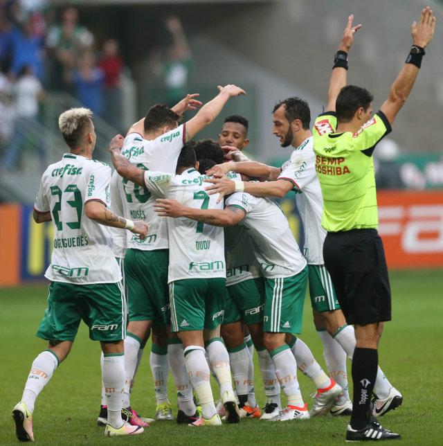 O Verdão bateu o Santa Cruz por 3 a 1 no Allianz Parque, pela 8ª rodada do Campeonato Brasileiro. (Cesar Greco/Ag Palmeiras/Divulgação)