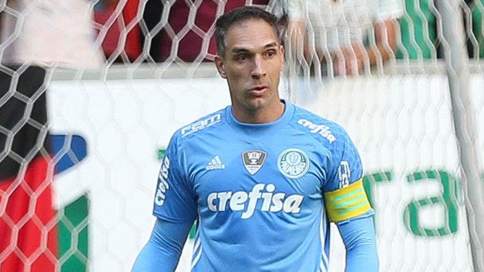 Fernando Prass analisou a posição do Verdão na tabela e falou sobre o clássico. (Cesar Greco/Ag Palmeiras/Divulgação)