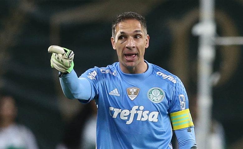 Capitão do Palmeiras neste sábado (18), Fernando Prass chegou a 189 jogos no gol alviverde. (Cesar Greco/Ag.Palmeiras/Divulgação)
