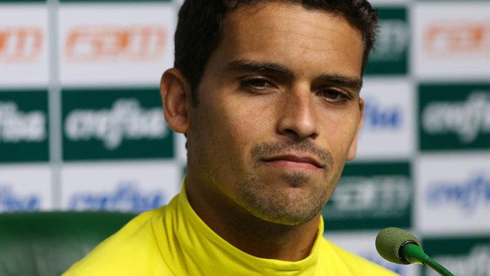 Jean concedeu coletiva na Academia de Futebol nesta segunda-feira (11). (Cesar Greco/Ag.Palmeiras/Divulgação)