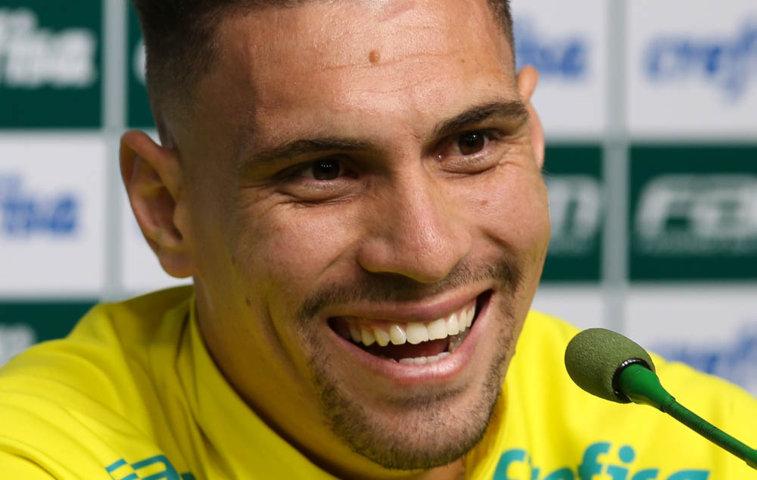 Moisés soma 14 partidas disputadas com a camisa alviverde. (Cesar Greco/Ag.Palmeiras/Divulgação)
