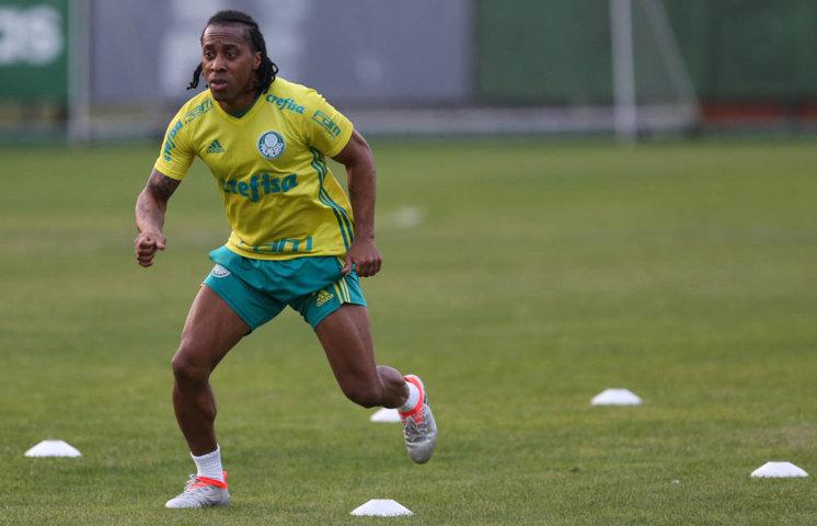 Arouca trabalhou normalmente no treino desta sexta-feira (08). (Cesar Greco/Ag Palmeiras/Divulgação)