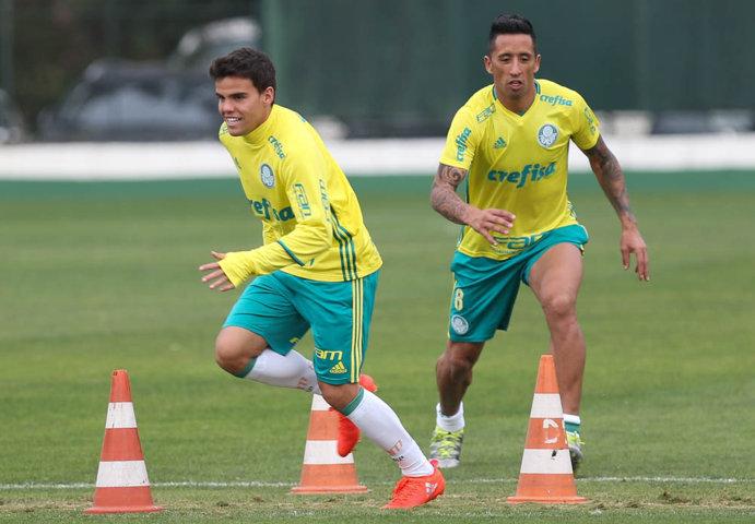 O elenco do Palmeiras se reapresentou na tarde desta terça-feira (19), na Academia de Futebol. (Cesar Greco/Ag Palmeiras/Divulgação)