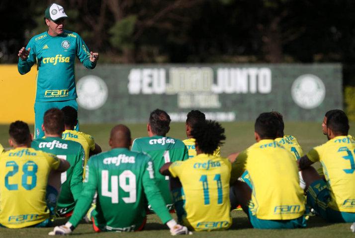 Técnico Cuca relacionou 24 jogadores para o confronto com o Sport. (Cesar Greco/Ag.Palmeiras/Divulgação)