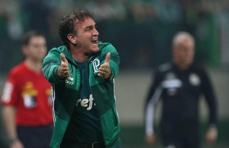 Na avaliação de Cuca, devido às circunstâncias, o empate foi um bom resultado. (Cesar Greco/Ag Palmeiras/Divulgação)