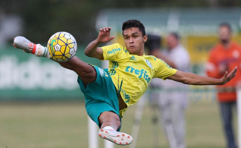 Erik anotou seu primeiro gol pelo Palmeiras diante do Sport. (Cesar Greco/Ag.Palmeiras/Divulgação)