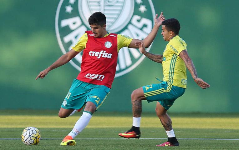 Palmeiras deu prosseguimento na tarde desta quarta-feira (27), na Academia de Futebol. (Cesar Greco/Ag Palmeiras/Divulgação)