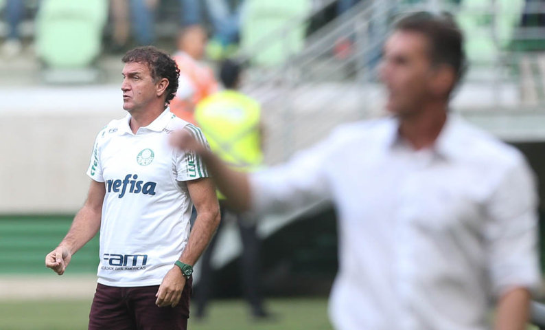 'O Jailson foi muito bem', disse o técnico Cuca após a partida contra o Vitória. (Cesar Greco/Ag Palmeiras/Divulgação)