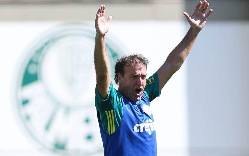 Cuca relacionou 23 jogadores para o duelo com o Fluminense, no domingo (28). (Cesar Greco/Ag.Palmeiras/Divulgação)