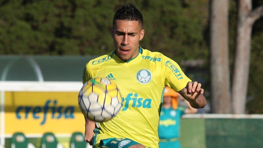 O Palmeiras decidiu nesta quinta-feira (05), em comum acordo, que não renovará o contrato do volante Gabriel. (Cesar Greco/Ag.Palmeiras/Divulgação)