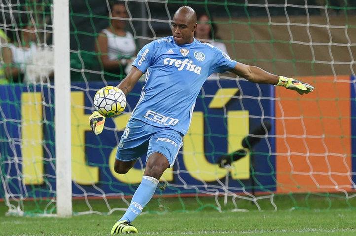 Experiente goleiro Jailson foi titular diante do Vitória. (Cesar Greco/Ag.Palmeiras/Divulgação)