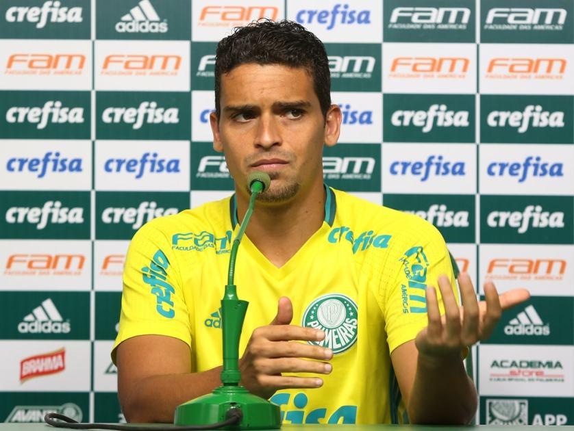 Autor do segundo gol diante do Fluminense, Jean concedeu entrevista coletiva nesta segunda (29). (Fabio Menotti/Ag.Palmeiras/Divulgação)