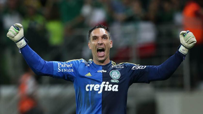 Fernando Prass imortalizou a camisa com grandes defesas na conquista da Copa do Brasil 2015. (Cesar Greco/Ag.Palmeiras/Divulgação)