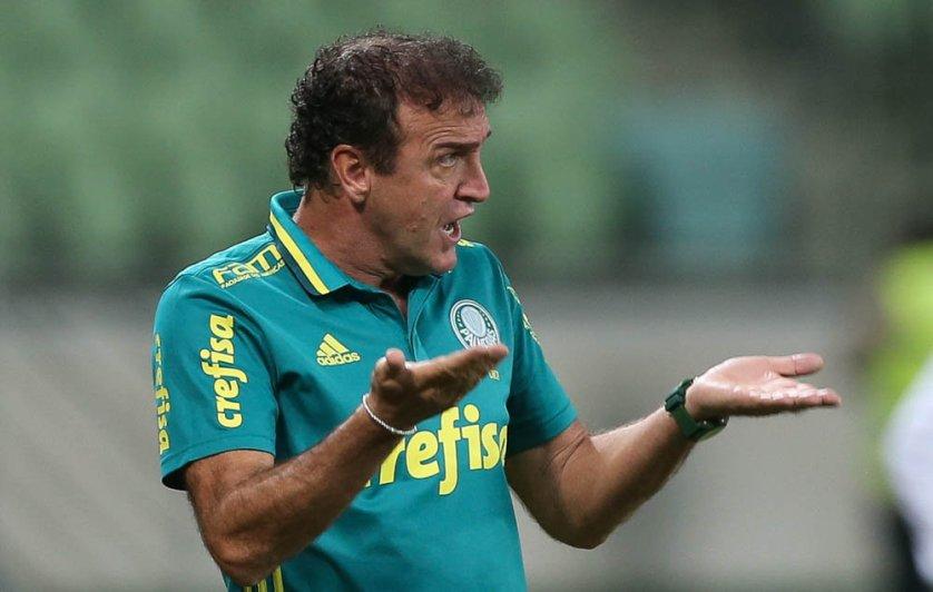 'Tem de ter calma porque o bom jogo encaixa', avaliou o técnico Cuca. (Cesar Greco/Ag Palmeiras/Divulgação)