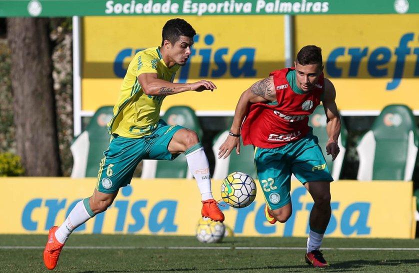 Elenco palmeirense segue preparação para partida contra o Grêmio. (Cesar Greco/Ag.Palmeiras/Divulgação)