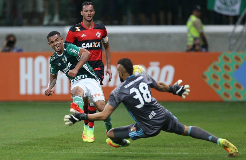 Cesar Greco/Ag.Palmeiras/Divulgação Cesar Dúvida antes da partida, Gabriel Jesus foi titular nesta quarta (14). (Cesar Greco/Ag.Palmeiras/Divulgação)