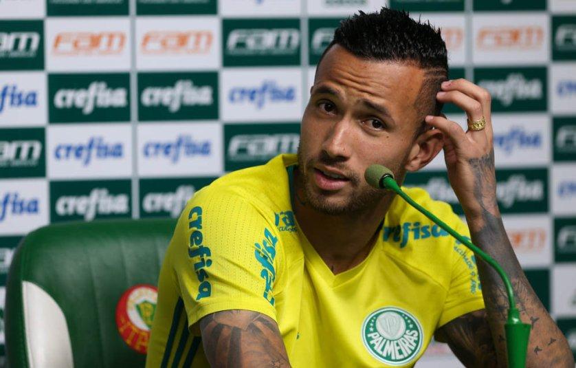 Leandro Pereira anotou seu primeiro gol desde o retorno ao Verdão.(Cesar Greco/Ag.Palmeiras/Divulgação)