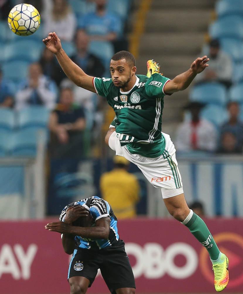 Vitor Hugo comemorou ponto ganho diante do Grêmio. (Cesar Greco/Ag.Palmeiras/Divulgação)