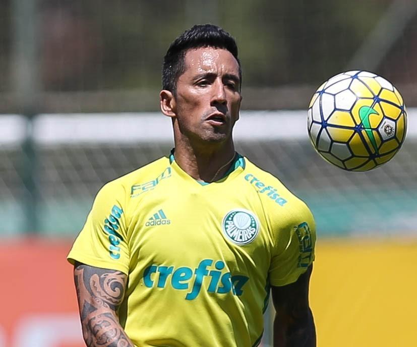 Barrios está de volta após defender a Seleção Paraguaia. (Cesar Greco/Ag Palmeiras/Divulgação)