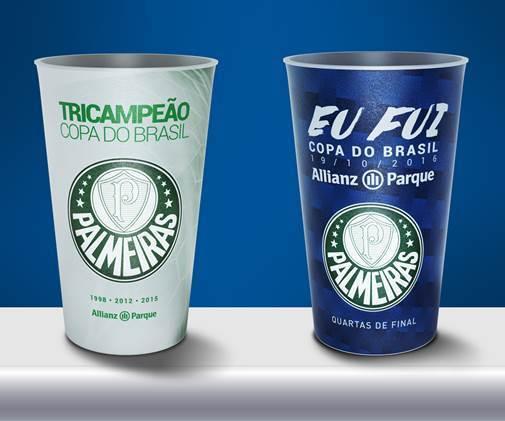 Allianz Parque lança copos personalizados para jogo decisivo da Copa do Brasil. (Divulgação)