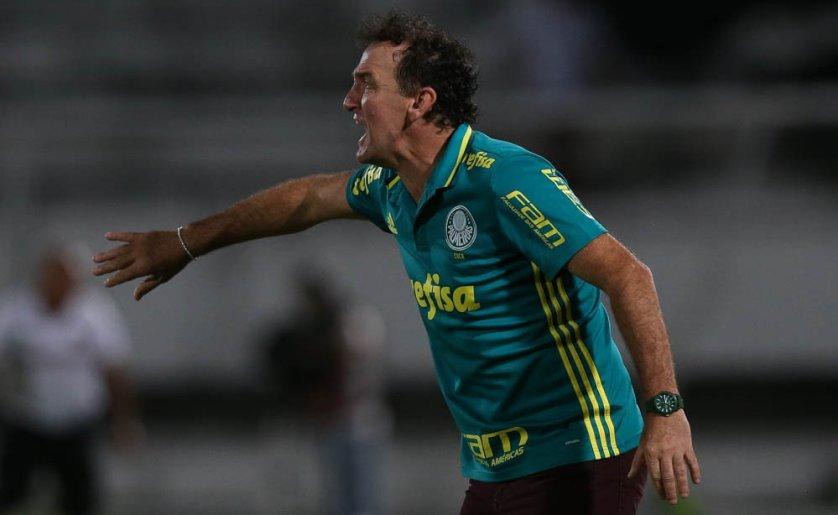 O técnico Cuca elogiou a tranquilidade do time para construir a vitória. (Cesar Greco/Ag Palmeiras/Divulgação)