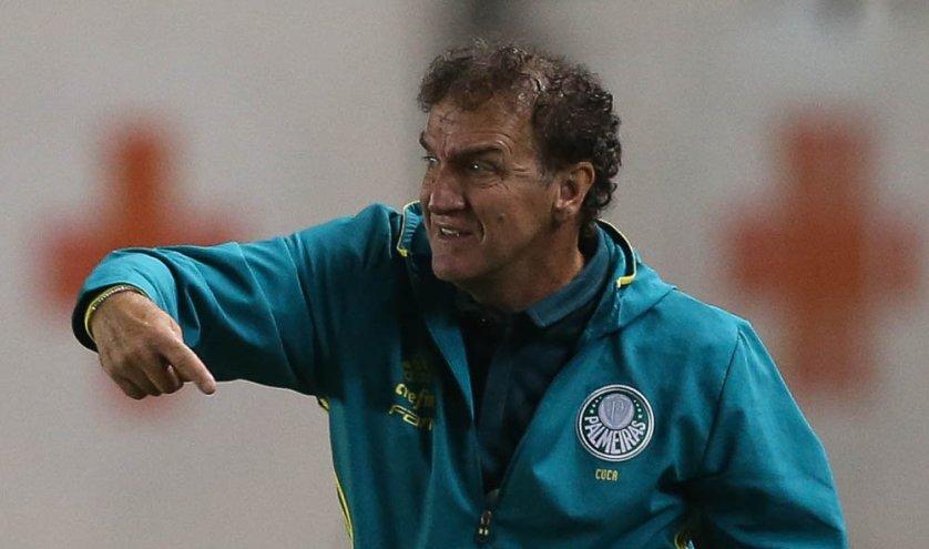 Técnico Cuca pediu tranquilidade à equipe na reta final do Brasileirão. (Cesar Greco/Ag.Palmeiras/Divulgação)