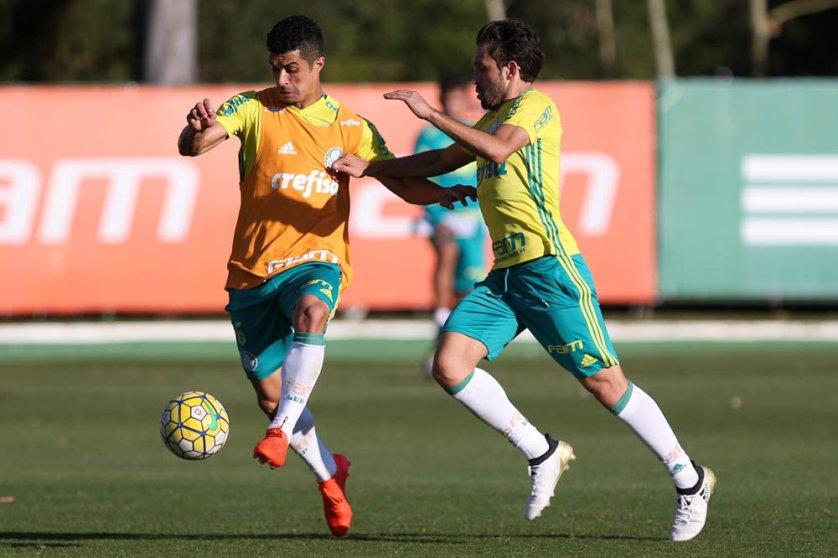 O Palmeiras finalizou na tarde desta terça-feira (18), a preparação para enfrentar o Grêmio. (Cesar Greco/Ag Palmeiras/Divulgação)