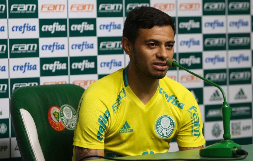 Autor do gol da vitória sobre o Inter, Cleiton Xavier chegou a 21 bolas na rede pelo Verdão. (Cesar Greco/Ag.Palmeiras/Divulgação)